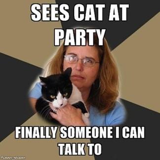 Socially Awkward Cat Lover